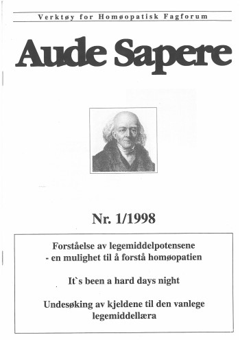 AudeSapere_01_1998_front